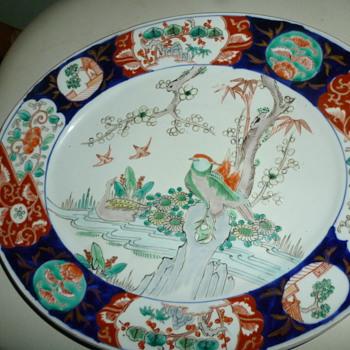 Japanese Imari porcelain oval platter - Pottery