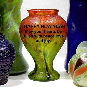 Happy New Year - Art Glass