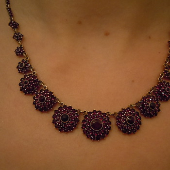 My Edwardian Era Garnet Necklace - Fine Jewelry