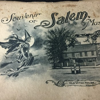 OLD SOUVENIR BOOKLET OF SALEM MASS. OLD WITCH HOUSE & MORE