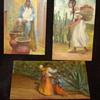 Mexican folk art miniature oil paintings