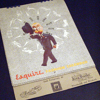 1947 Esquire Men's Fashion Calendar - Paper