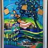 "Silkscreen Print ""Glasshouse Trees-Harvest""by Helmut Kand"