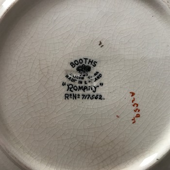 Help locating period of plate plus any info on the Booth China Company