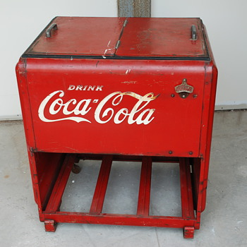 Nice Old Large Store Coca Cola Cooler  - Coca-Cola