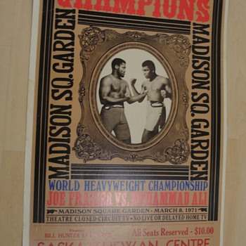 Poster Muhammad Ali Joe Frazier 1971  - Posters and Prints
