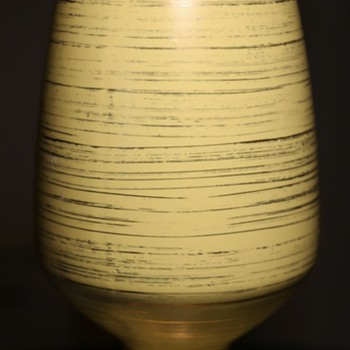 Freeman-McFarlin Rocket Vase in Yellow and Gold - Pottery