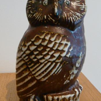 A GUSTAVSBERG OWL  - Pottery