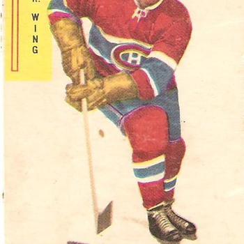 Vintage collector hockey card, maurice ( Rocket ) Richard