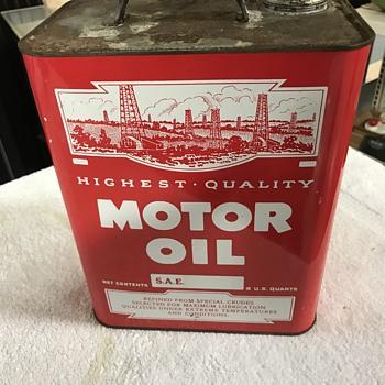 Lubroil 2 gallon oil can  - Petroliana