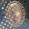 vintage pink plate