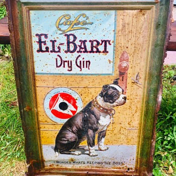 Cafe El-Bart Dry Gin by Flag Brand - Advertising