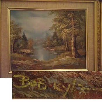 Oil Painting signed by Bob Kyle
