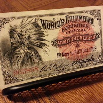1893 World Columbian Exposition Admittance Ticket