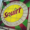 Squirt Leaded Glass Hanging Sign