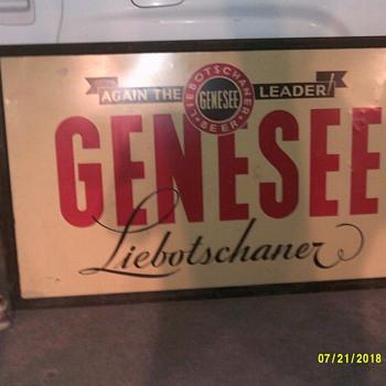 GENESEE LIEBOTSCHANER BEER SIGN - Advertising