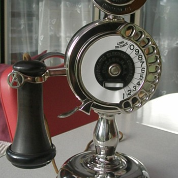 1905 Automatic Electric Co Strowger Candlestick Telephone - Telephones