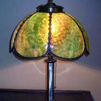 Antique Slag Lamp - Lamps