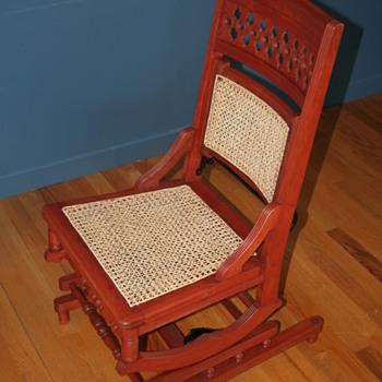 An intriguing rocking chair