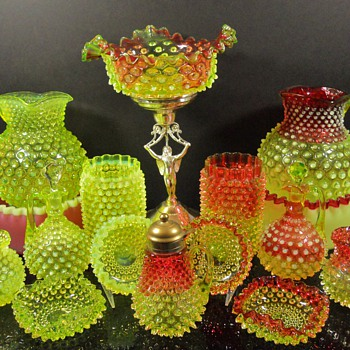 Hobbs rubina verde - Art Glass
