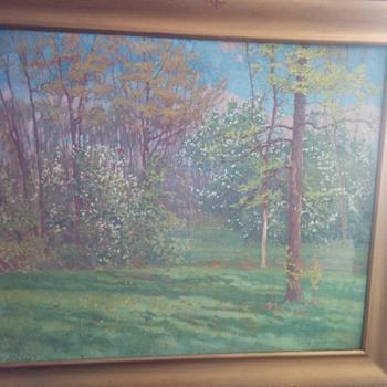 alfred jannson 1915 picture 36x29... - Fine Art