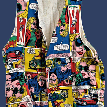 1970's Deadstock Nicky Zann Comic Book Pop Art Vest  - Comic Books
