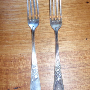 Lovely Norblin Art Nouveau forks flatware cutlery