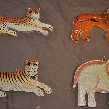 Handpainted Wood Animals - Folk Art