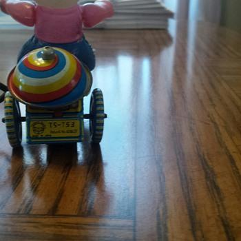 Childhood tin wind-up toys