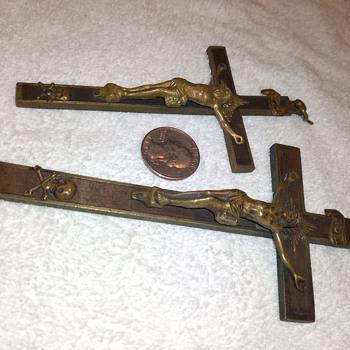 brass (tone?) crucifixes - Fine Jewelry