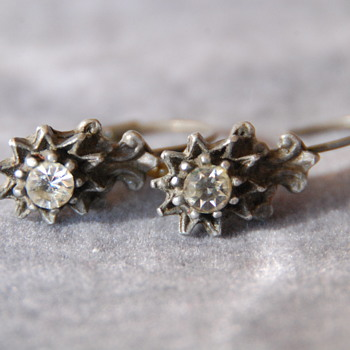 Old Earrings with Rhinestones_ID Please - Costume Jewelry