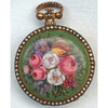 "Miniature Floral Enamel Gilt Verge ""Chinese Market"" Watch by Dimier c1825"