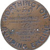 c1904 Worthington Pumping Engine brass name plate