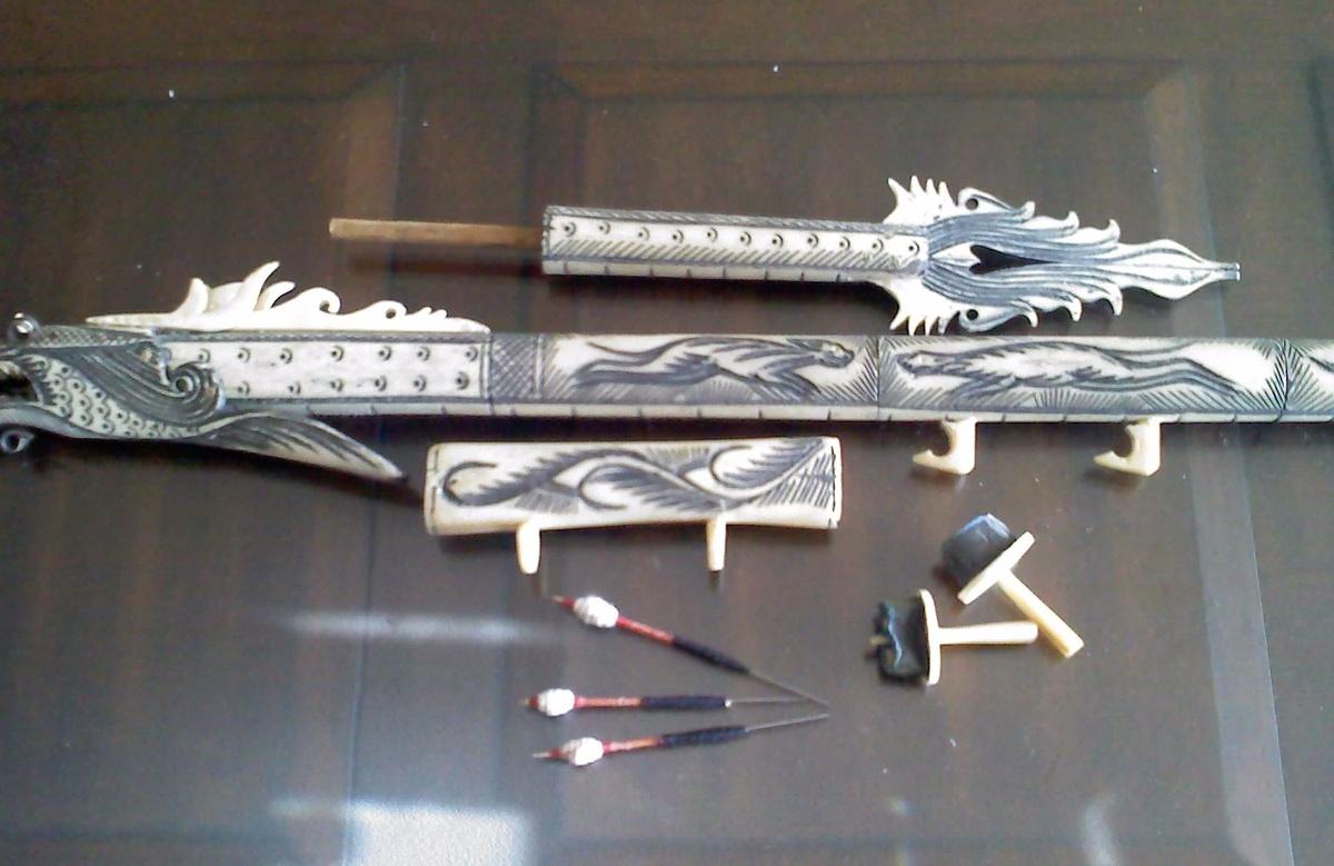 Carved Bone Dragon Blow Dart Collectors Weekly