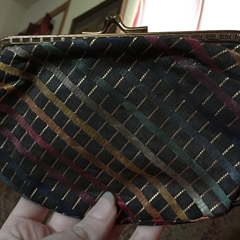 Vintage Multicolored Striped Purse - Bags
