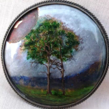 My repair on Arts and Crafts brooch, enamel attributed to Charles Fleetwood VARLEY.