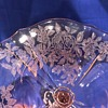 Pink Etched Compote