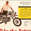 1965 - Mont. Ward / Benelli Motorcycles / NFL Poster - 2