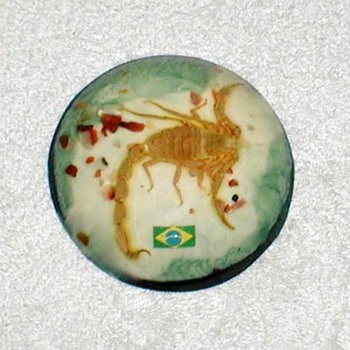 Scorpion Paperweight - Brazil - Art Glass
