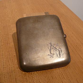 RUSSIAN SILVER CIGARETTE CASE MOSCOW - Silver