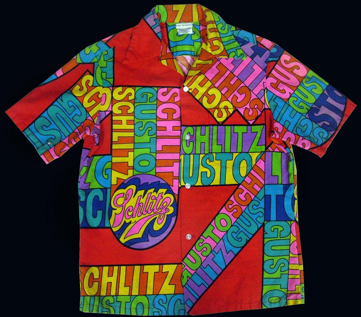 8d34604c Vintage Psychedelic 60s Schlitz Beer Hawaiian Shirt | Collectors Weekly
