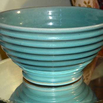 Blue Ringed Mixing Bowl - Kitchen