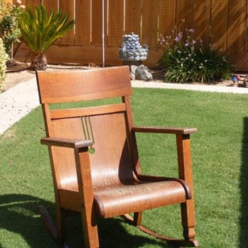 Unsolved Rocking Chair - Furniture