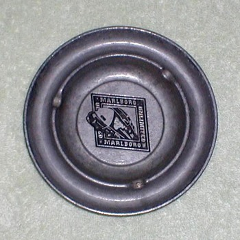 """Marlboro Unlimited"" Pewter Ashtray - Tobacciana"