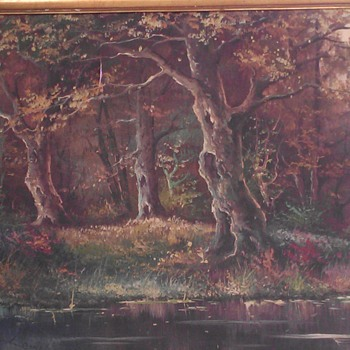 """Oil Painting Signed """"Lewis"""" - Fine Art"""