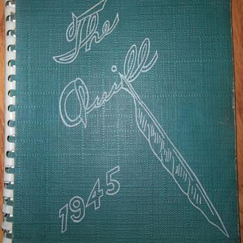 1945 High School Yearbook  - Paper