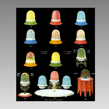 Clarke Fairy Lamps - Color Ads - Art Glass