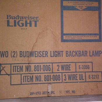 Budweiser Light Back bar Lights - Breweriana