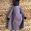 96' Pleasant Company Black Doll Purple Dress