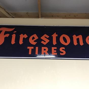 Firestone tire sign 5 ft  - Petroliana